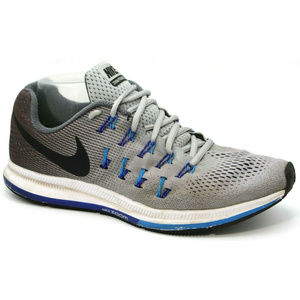 Nike Mens Zoom Pegasus 33 Athletic Sneakers Gray 9